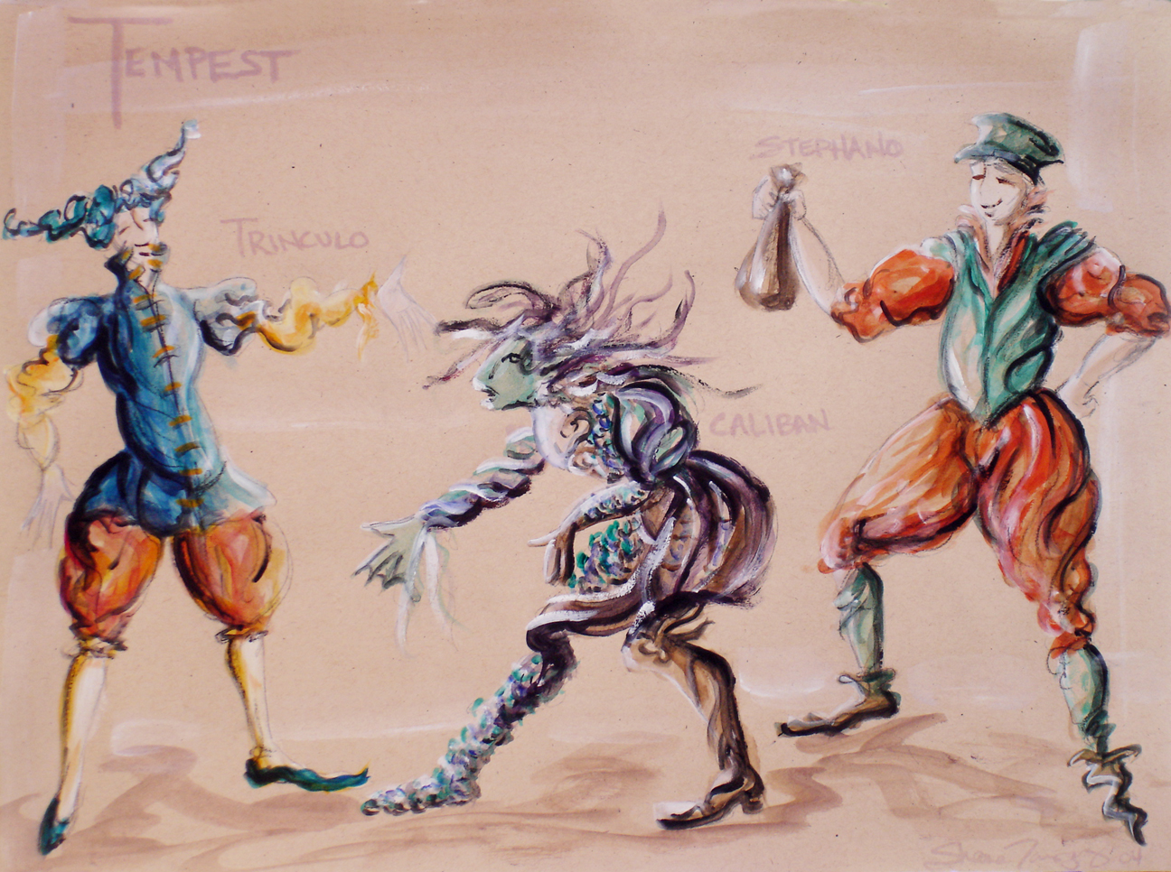 Concept Rendering - Trinculo and Caliban, The Tempest