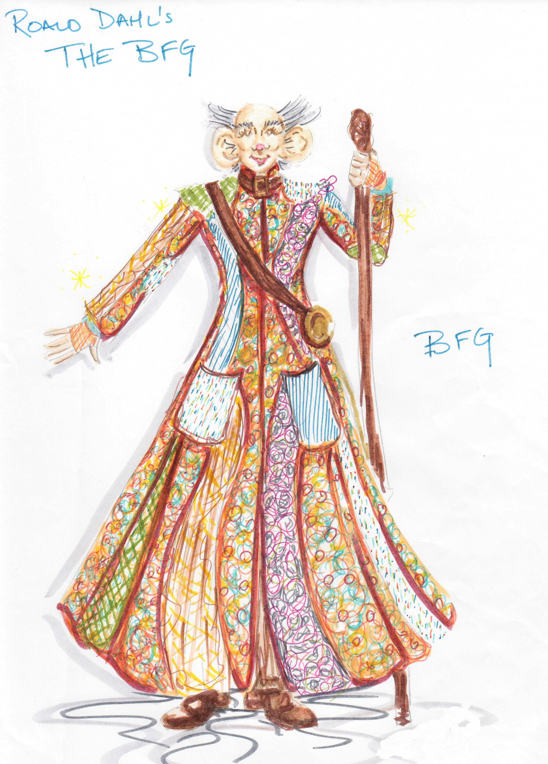 Costume Rendering for The Big Friendly Giant (BFG)