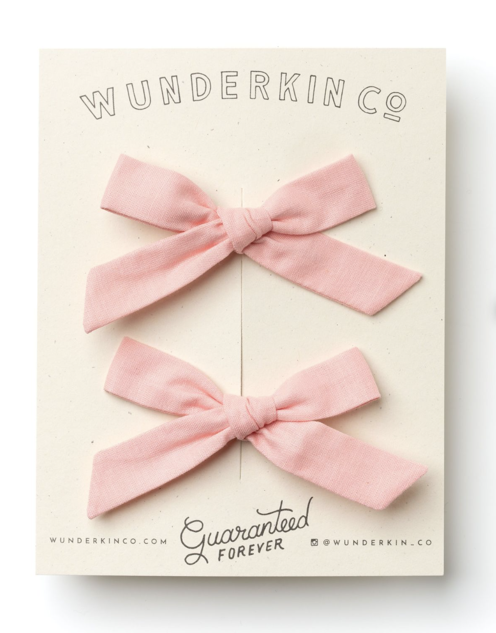 Bows - Wunderkin Co never disappoints with their curated color selection for each season and this is the perfect blush tone for any hair color.