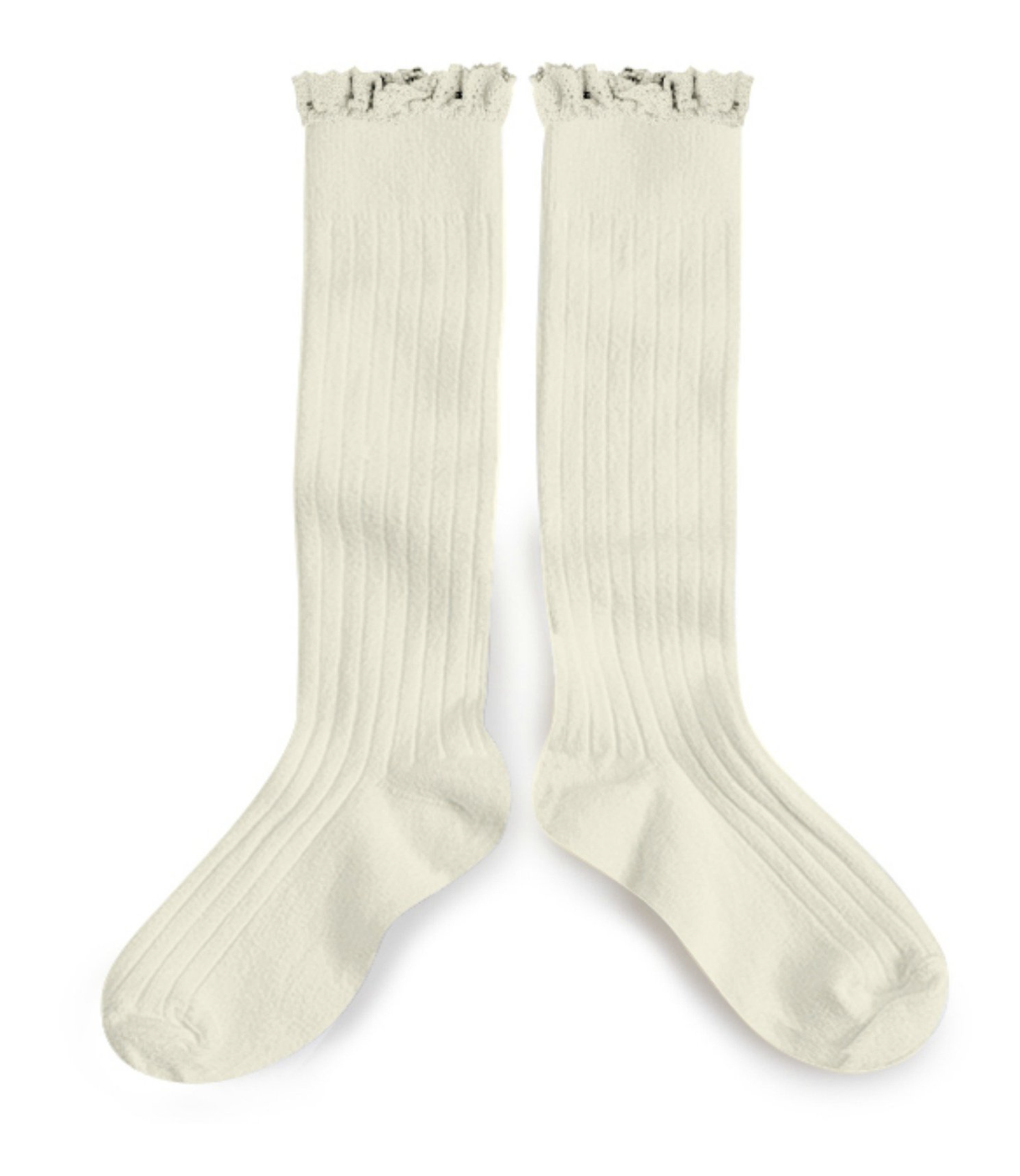 Knee High Socks - We love knee high socks for the cooler spring days. These have precious ruffle and ribbing details that make these a stand out.