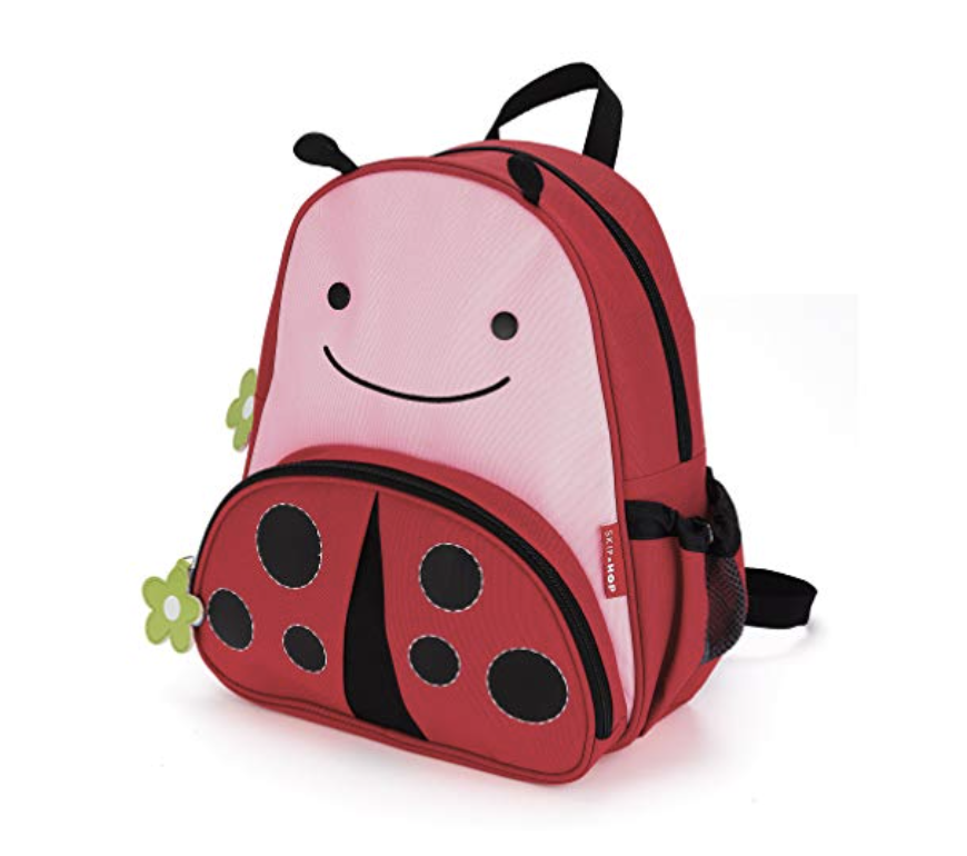 Backpack - Both our girls have their own bag filled with items just for them. We love the Skip Hop bags. They fit the right amount for them to carry by themselves.