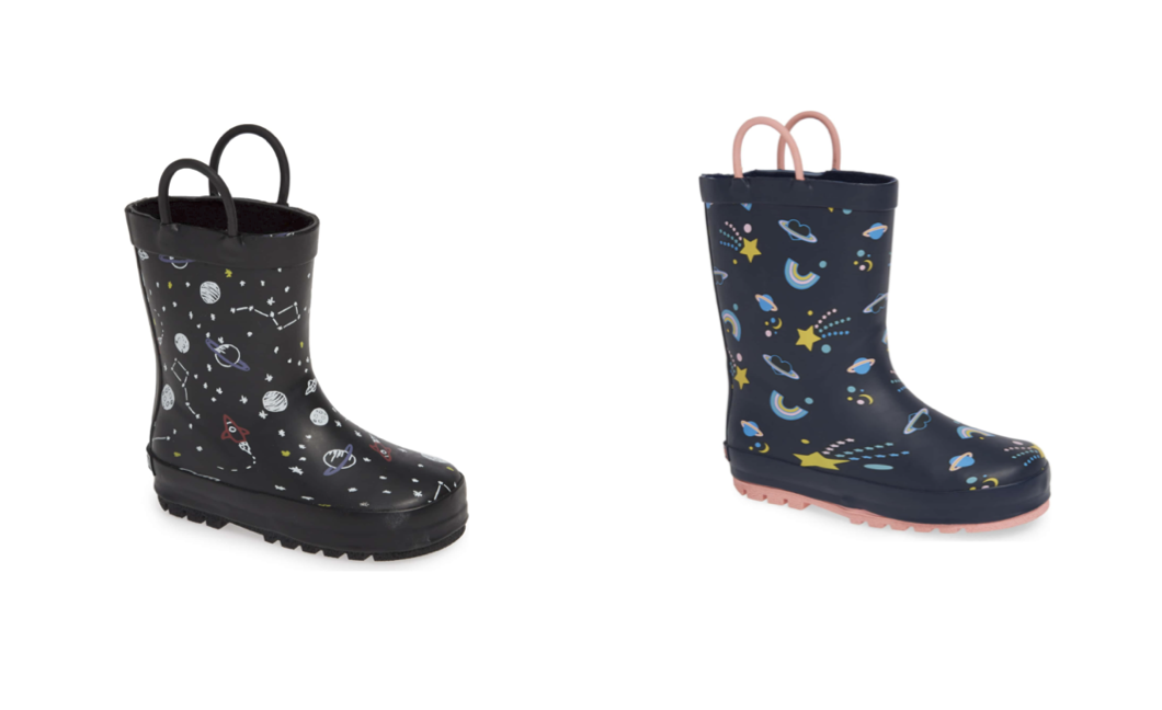 Rain Boots - A Neccesity for rainy muddy spring weather. I love these Tucker & Tate rain boots. For under $30 they don't break the bank and come in a variety of colors as well as these cute prints.