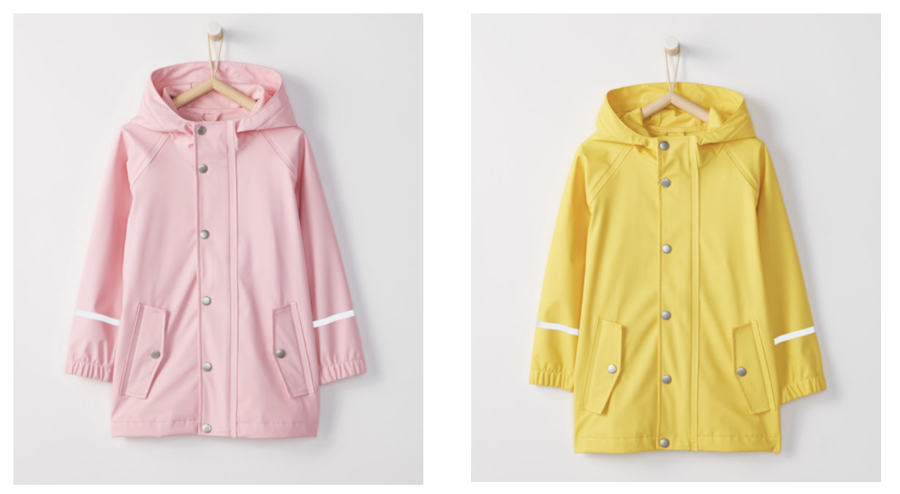 Raincoat - Rain coats are essential for Spring and this one is a beautiful shade of pink and also roomy enough to fit warmer layers under for those cold rainy spring days.