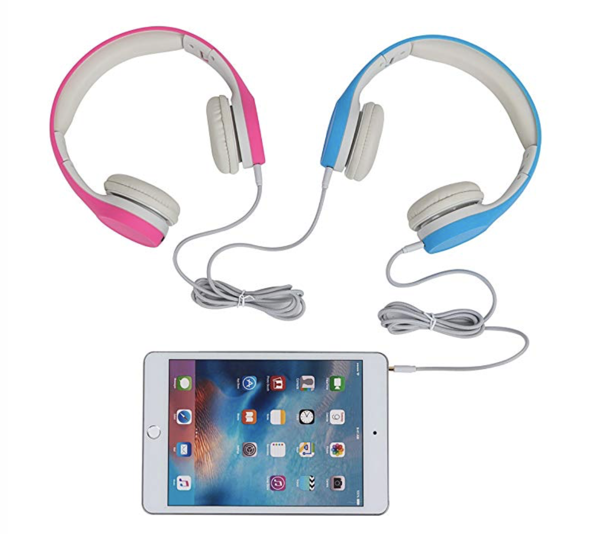 Headphones & Tablet - There is a time and place for screen time and a travel day is definitely a day it comes in handy. These headphones are comfortable for our girls and I love that they connect together so they can listen or watch from the same device. They also have a volume limit to protect their little eardrums.