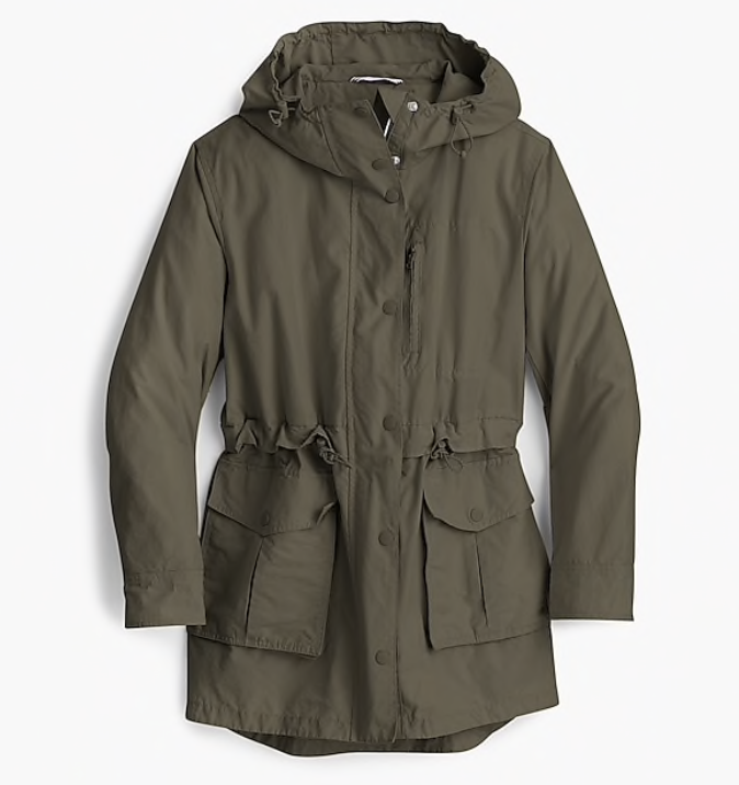Rain Coat - A necessity of spring. I love the classic style of this rain coat from J.Crew. With the cinching around the waist it is a flattering silhouette that you can wear rain or shine.