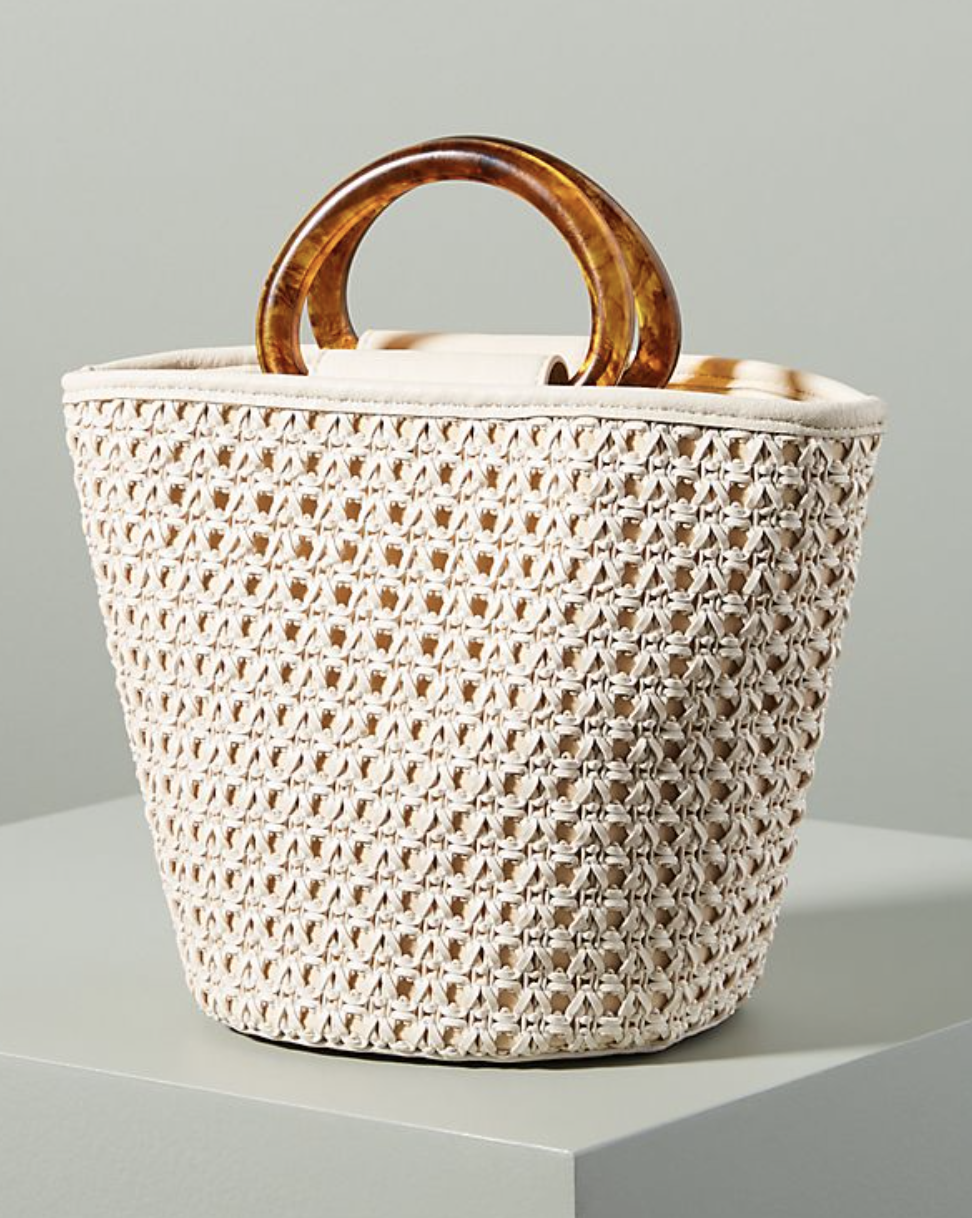 Handbag - Nothing screams warmer weather like an ivory bag. And the retro handle on this bag is the perfect touch.