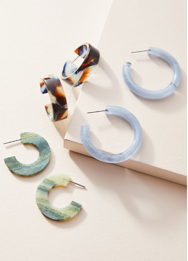 Earrings - Resin earrings are having a moment right now. This three pack from anthropologie is the perfect starter pack if you haven't jumped on the resin bandwagon yet.