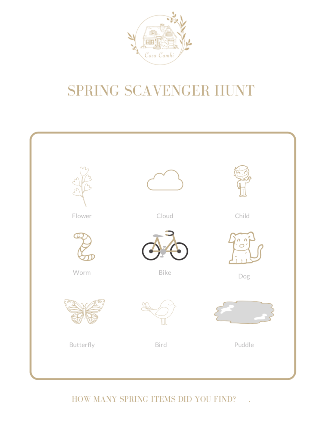 Download your own printable Scavenger Hunt page  here .