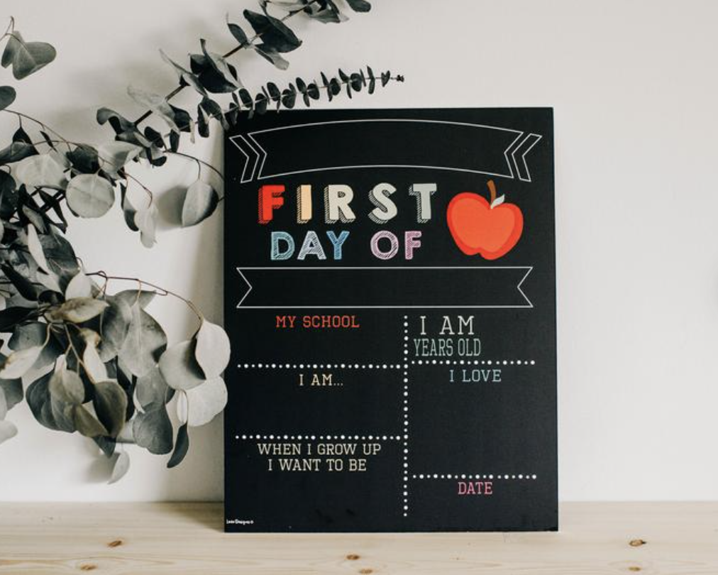 Chalk Board - Best part of this chalk board? It is double sided allowing you to create a first and last day of school photo.By Love Design Shop