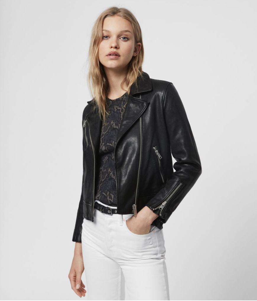 All Saints is my go to store for high end leather jackets. I love the look and feel of this investment piece $498