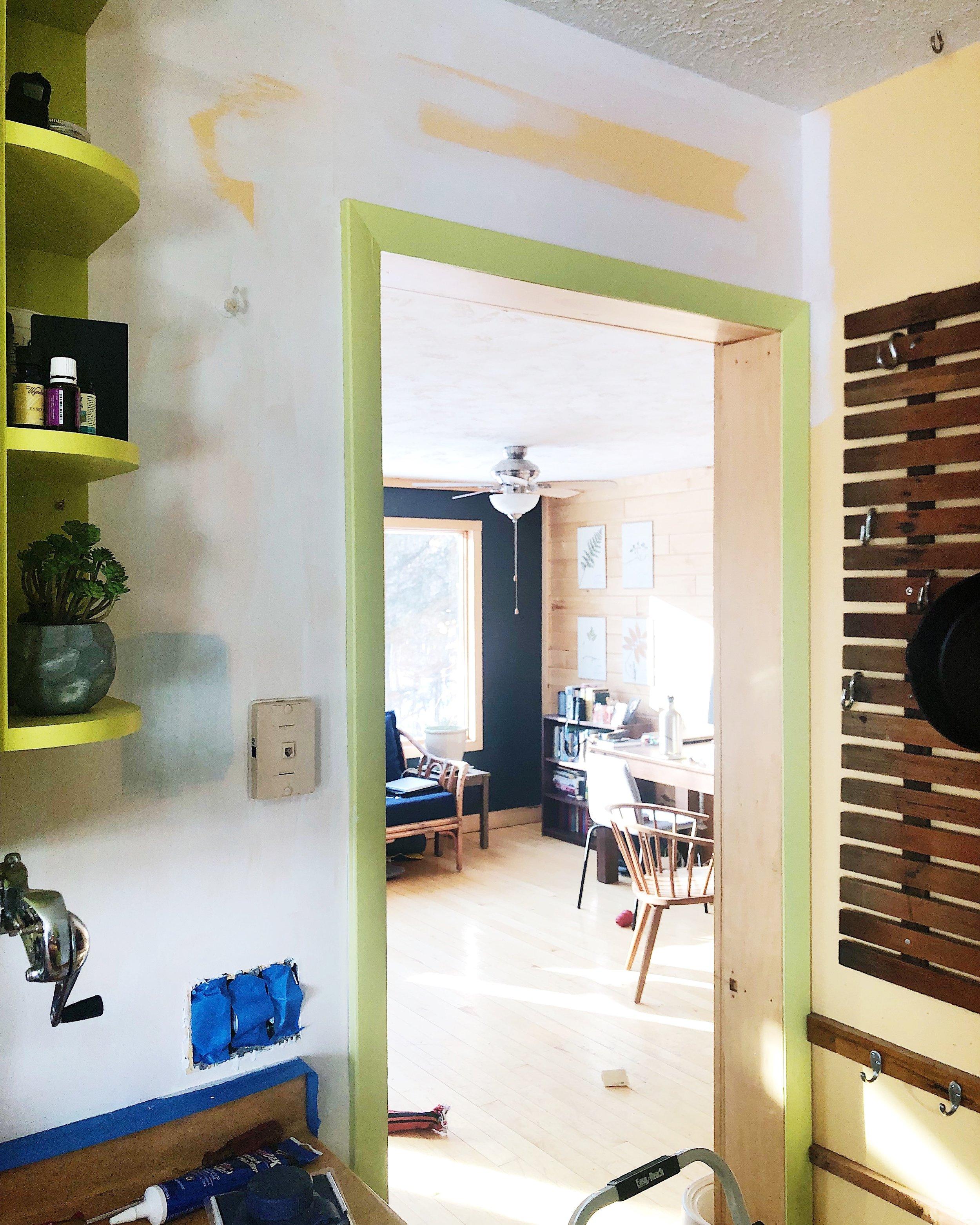Kitchen update - step #1 - walls & trim