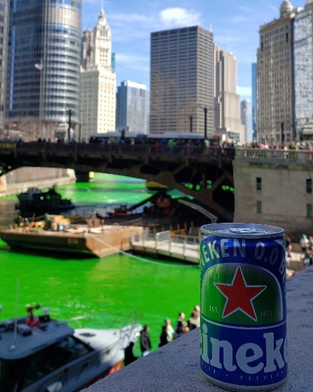 So much fun sampling #Heineken00 today at Chicago's St. Patrick's Day festivities! #NowYouCan