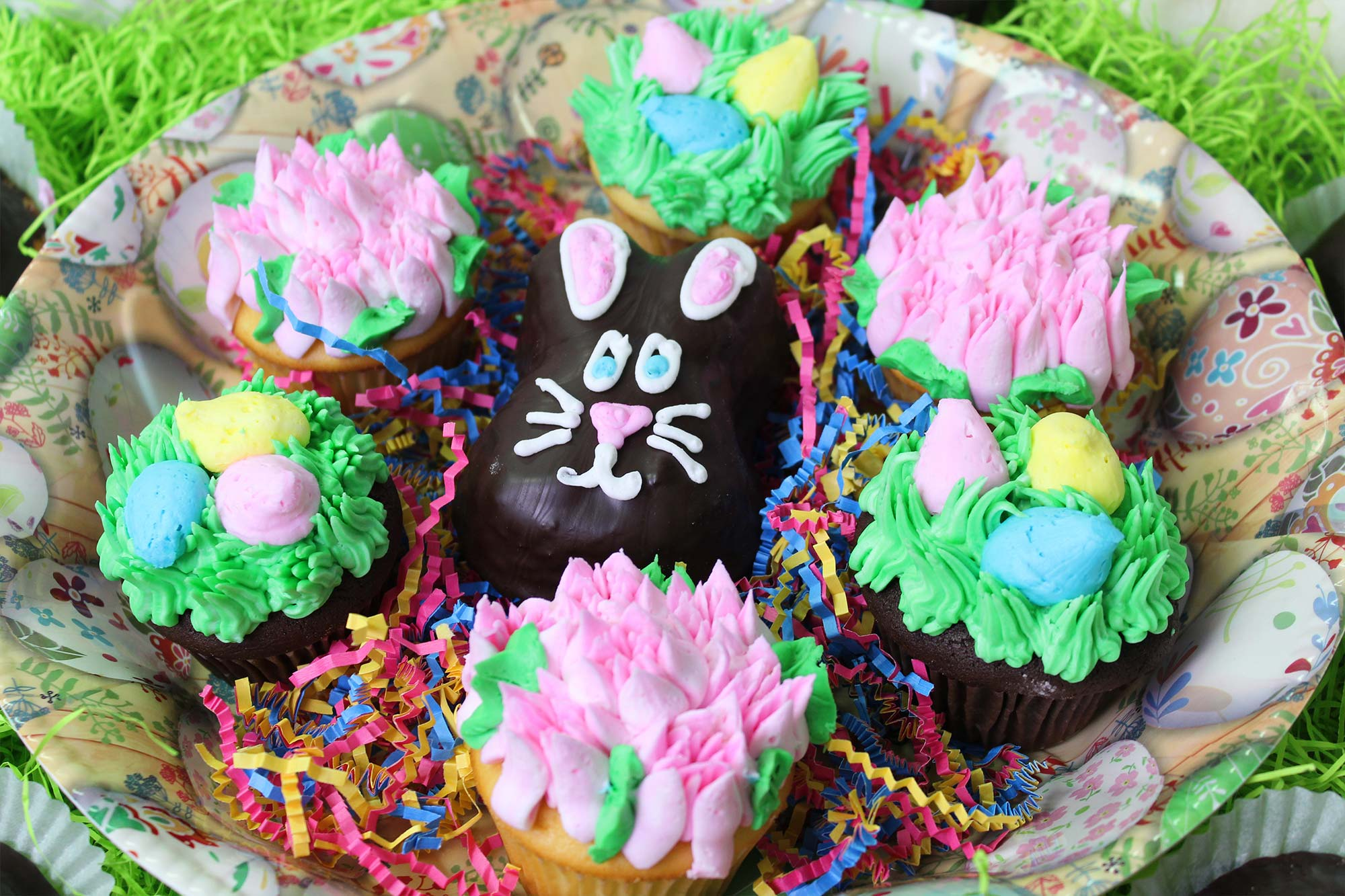 Easter - Bunny cakes, cookies and cupcakes!