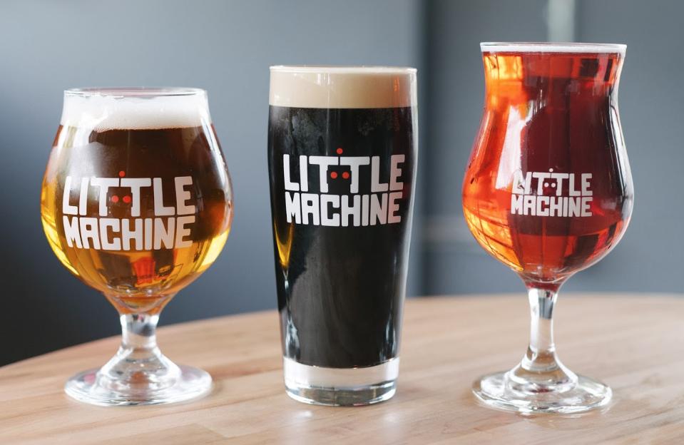 Little Machine Beer glasses.