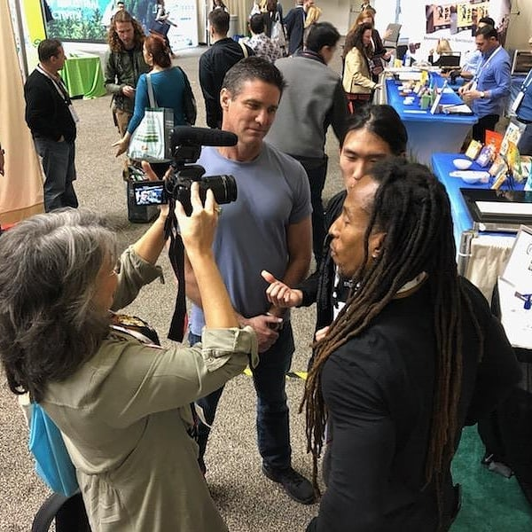 Catch our interview on Rowdy Girl Sanctuary podcast. #expowest2019 #expowest #healthylifestyle #veganbodybuilder