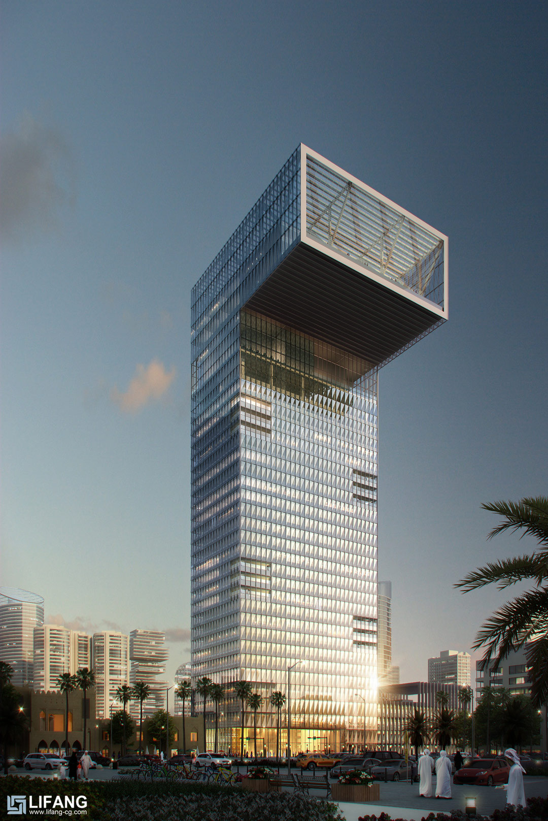 Rendering of skyscraper