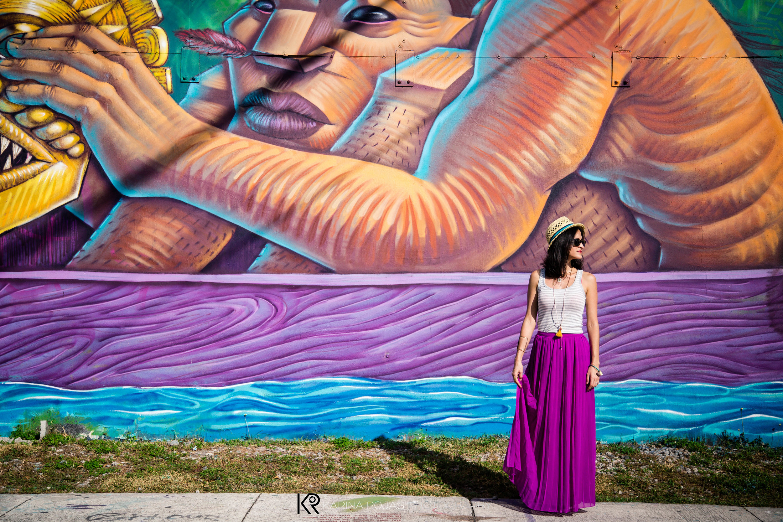 At my old neighborhood of Wynwood, Miami photographed by the best: Karina Rojas.