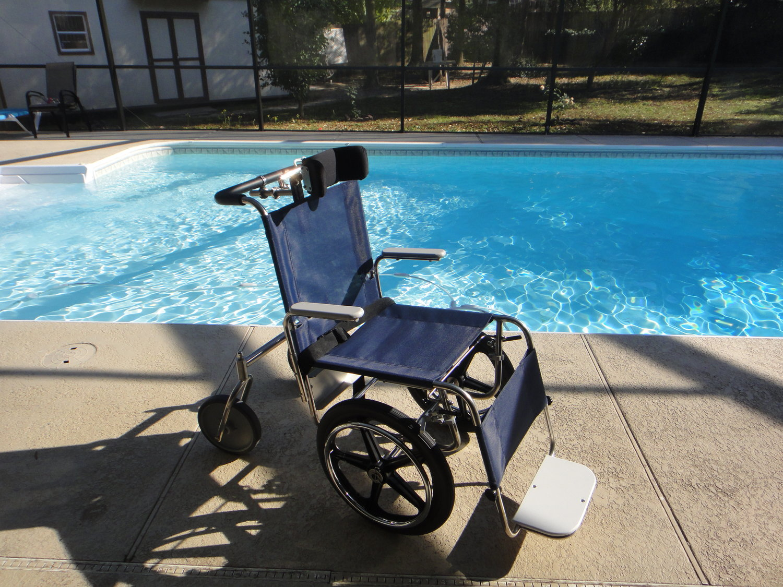 Debug Aquatic Pool Wheelchair — DeBug Beach Wheelchairs