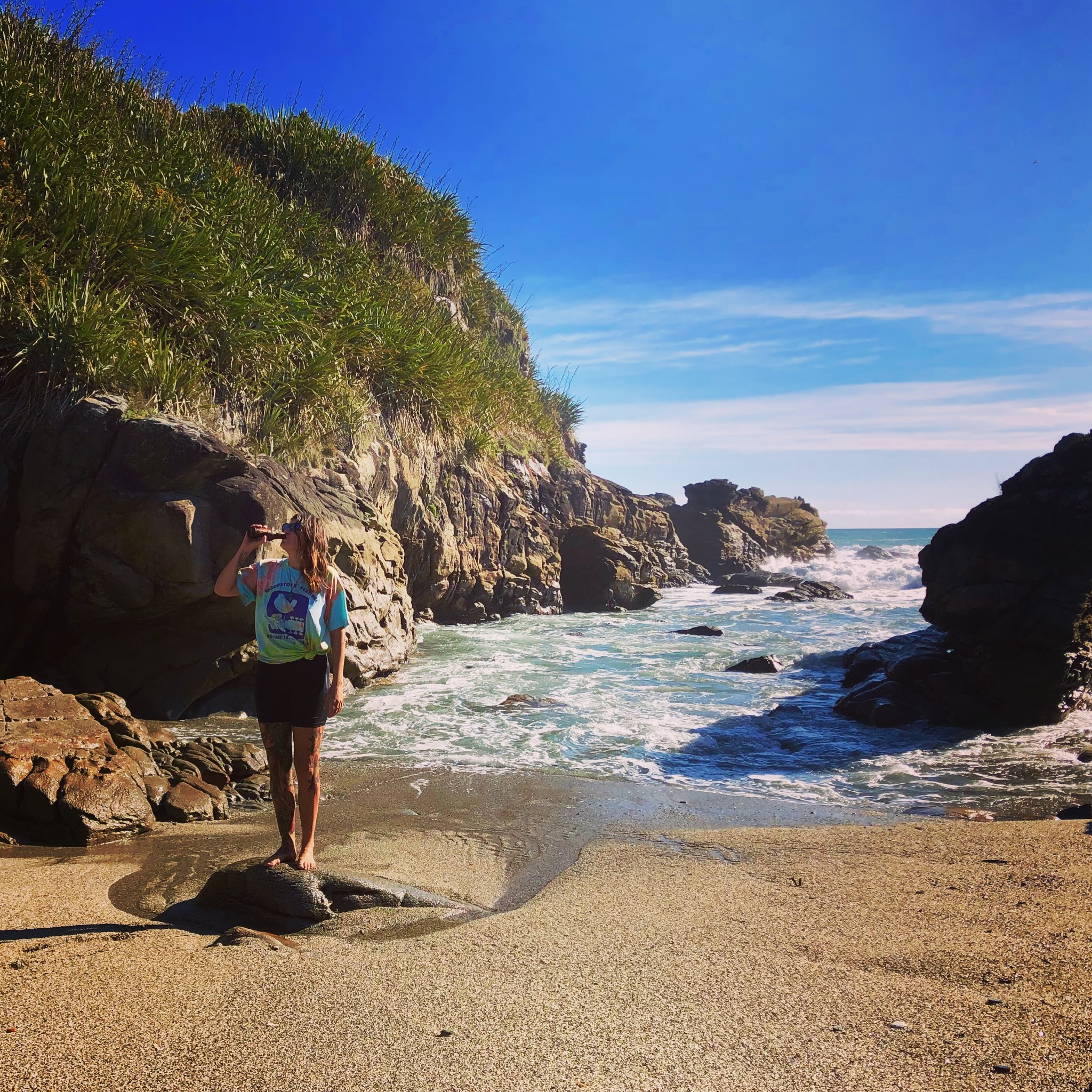 Ellisha Macoretta - Name: Ellisha Instagram: @bnb_excellentadventures Brew: IPA's all day Favourite snack: Trail mix Outdoor activity: CyclingDescription.Ellisha is an adventurous Canadian who is exploring New Zealand by bike, not letting warnings of difficulty stop her from ridin the trails she has dreamt of!