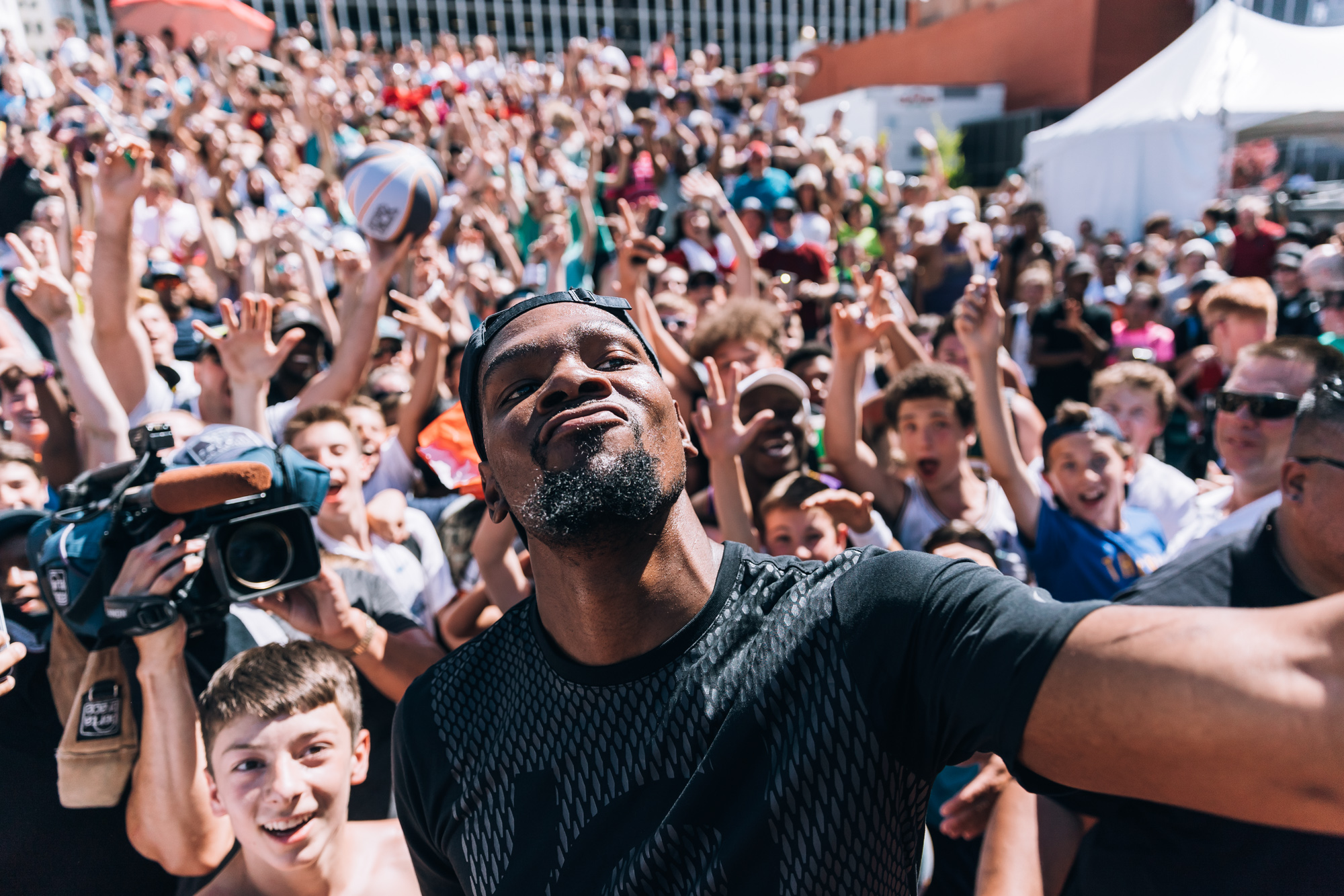 Kevin Durant's 2017 Appearance at Hoopfest