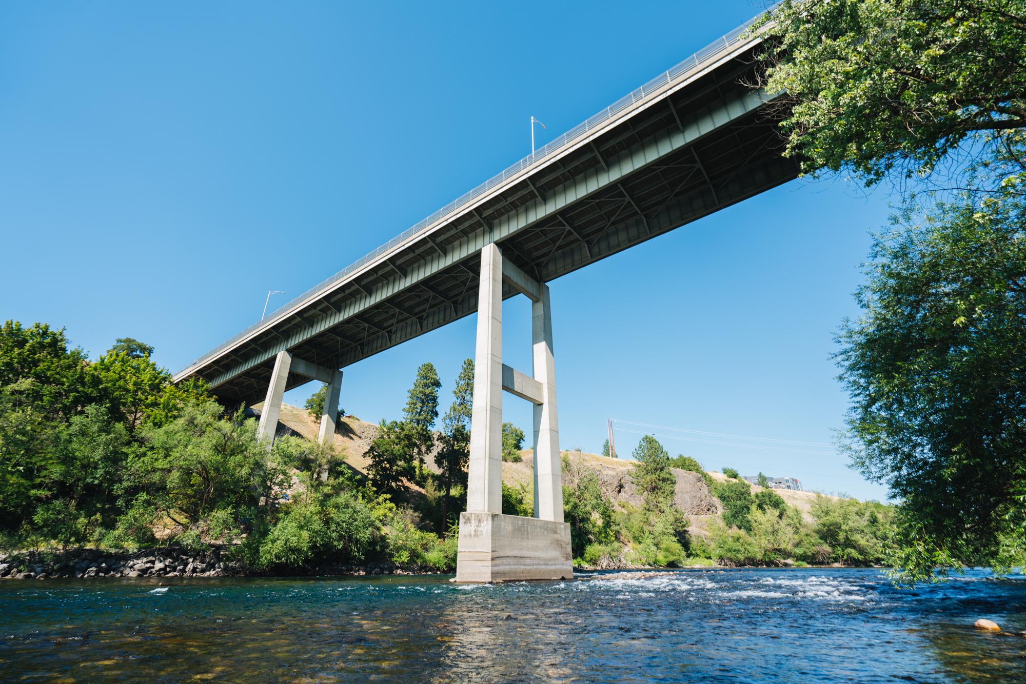 spokane washington maple street bridge river boat launch recreation
