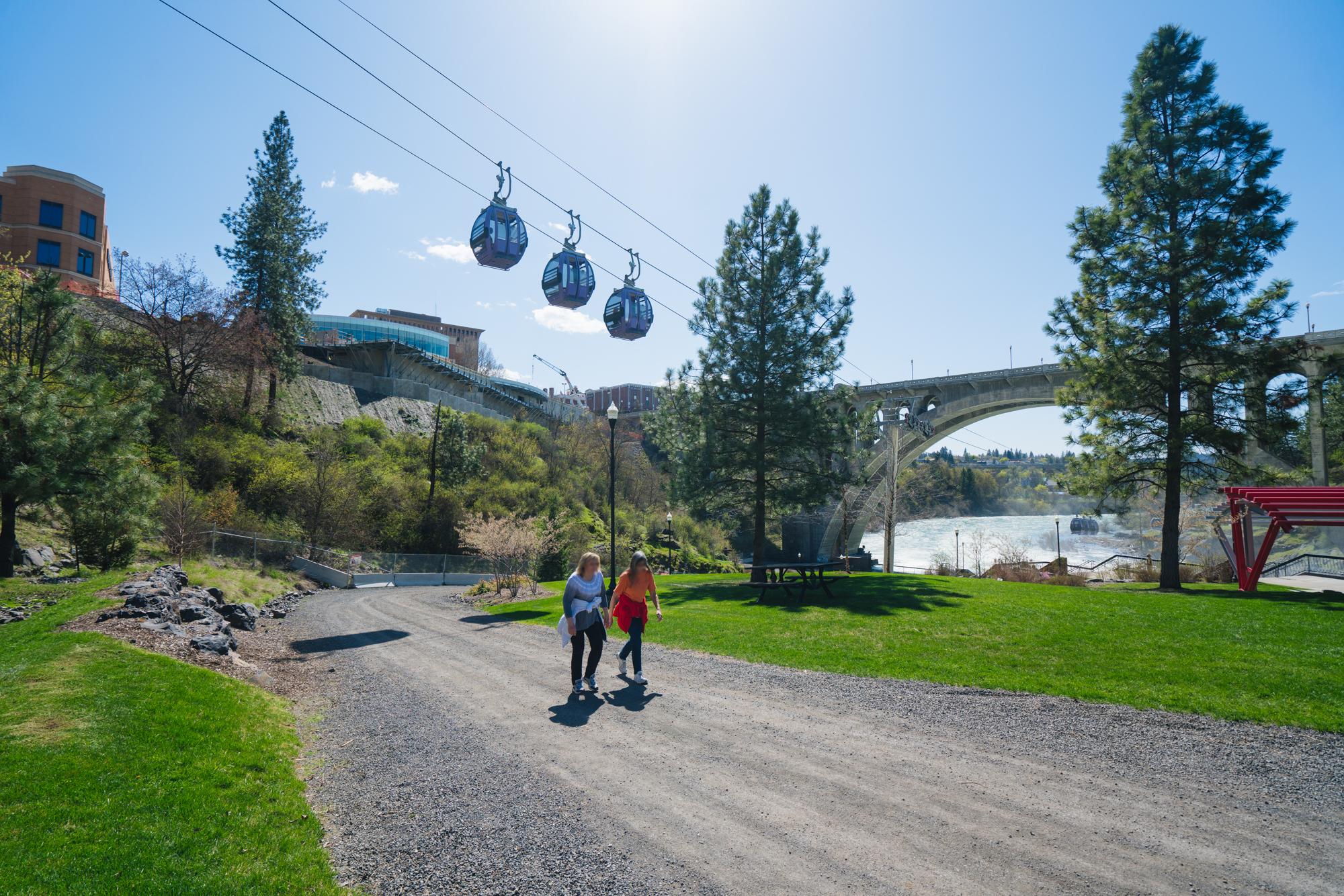 south gorge loop trail spokane river