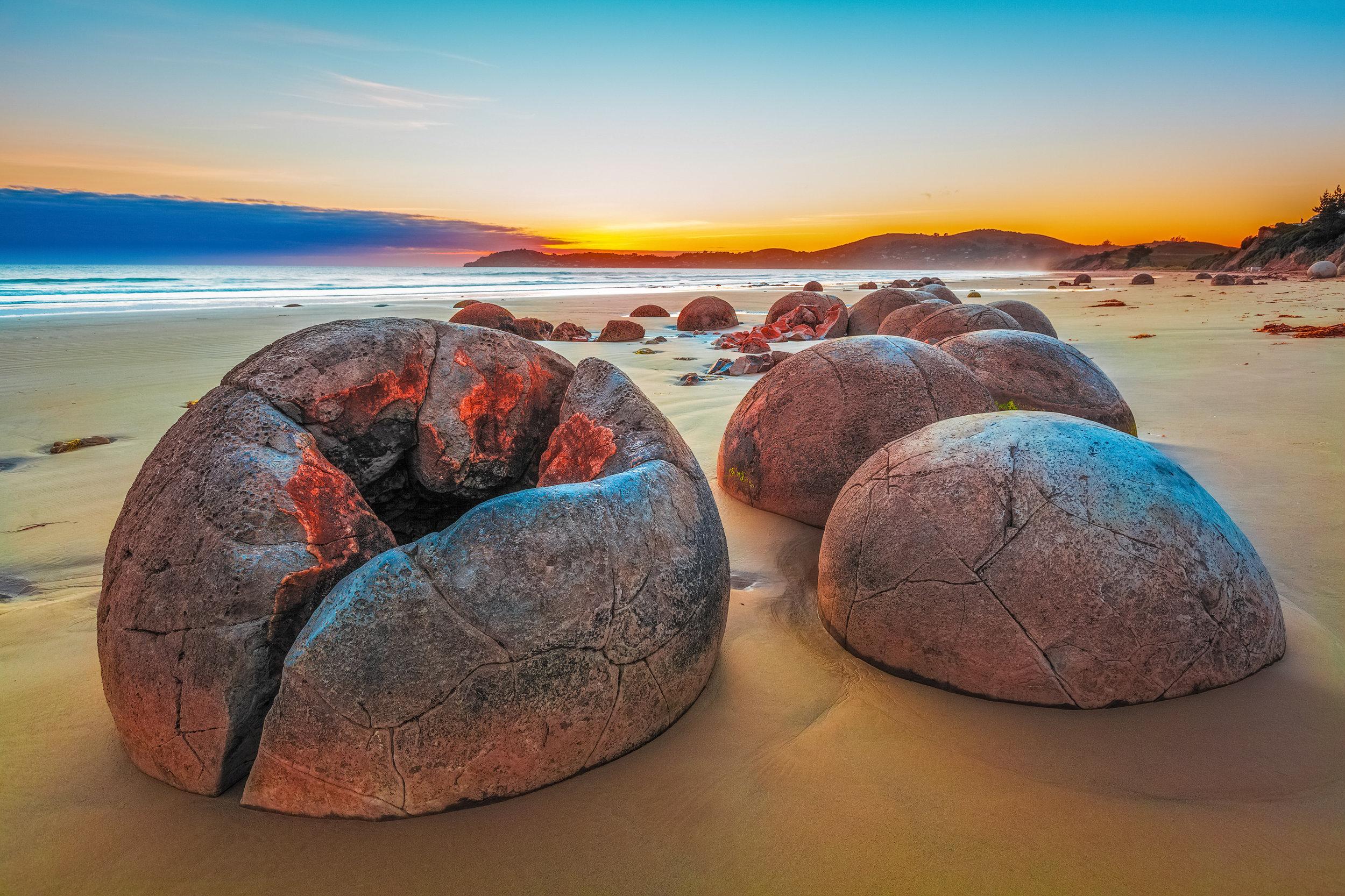 Moeraki Boulders,Otago, South Island