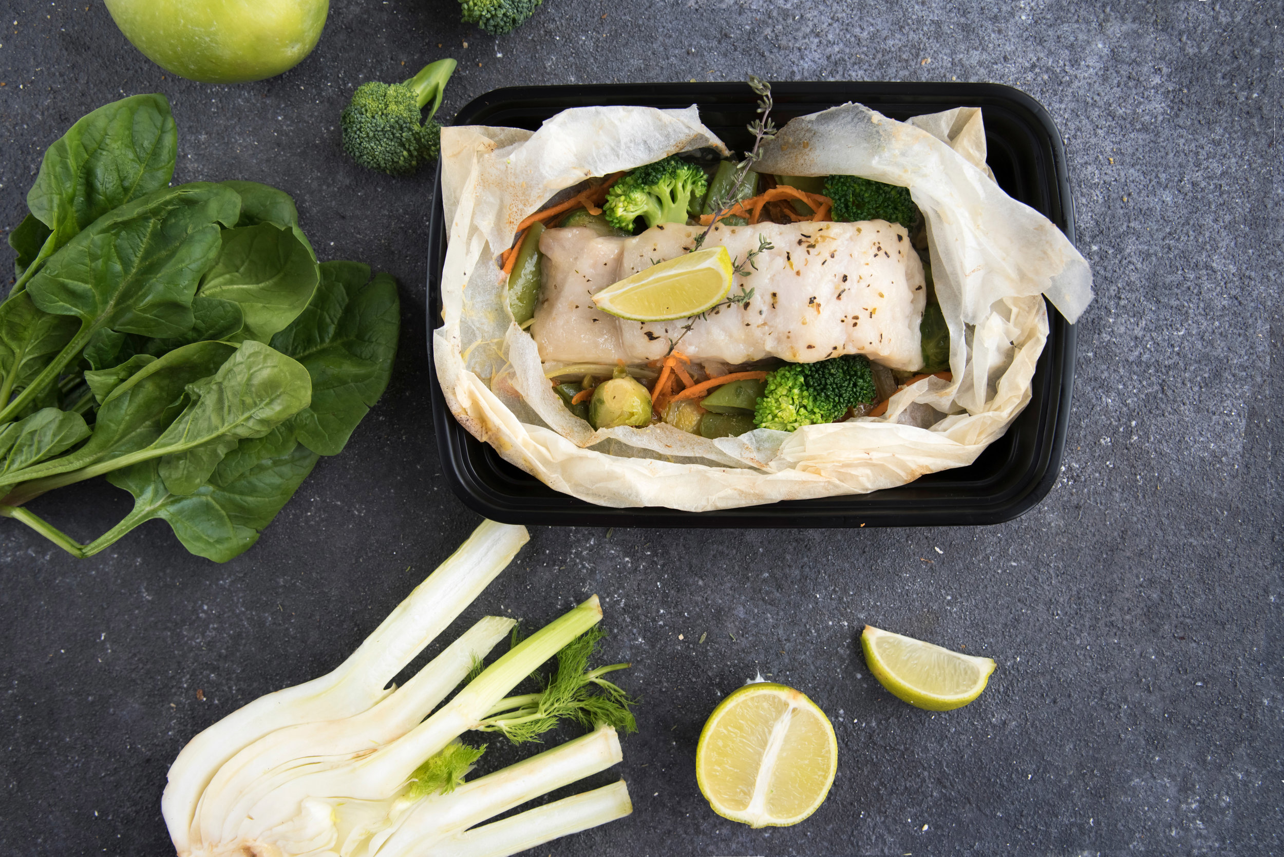 Try with baked white fish with steamed vegetables