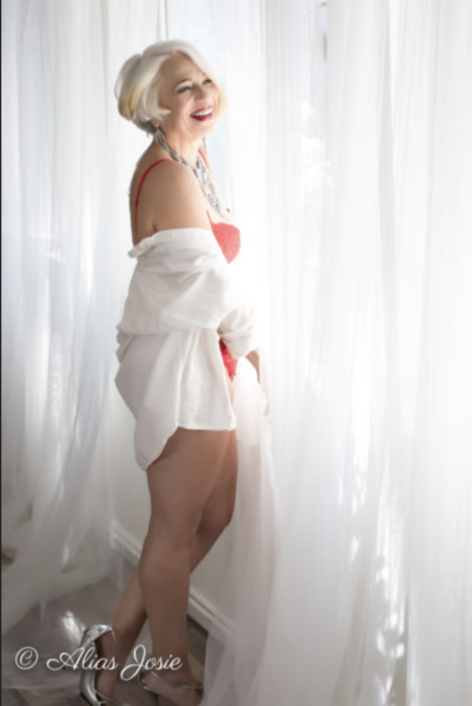 I can not say it enough..There is no age limit to boudoir. - Boudoir, to me, is meant to capture a side of yourself that you may rarely see. It is a body position, a look in the eye..it is not limited someones size or gender, and certainly not age!
