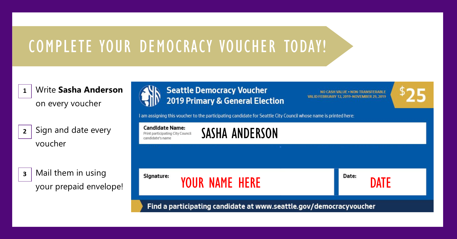 Donate your Vouchers TODAY! - Just follow the directions above and mail 'em