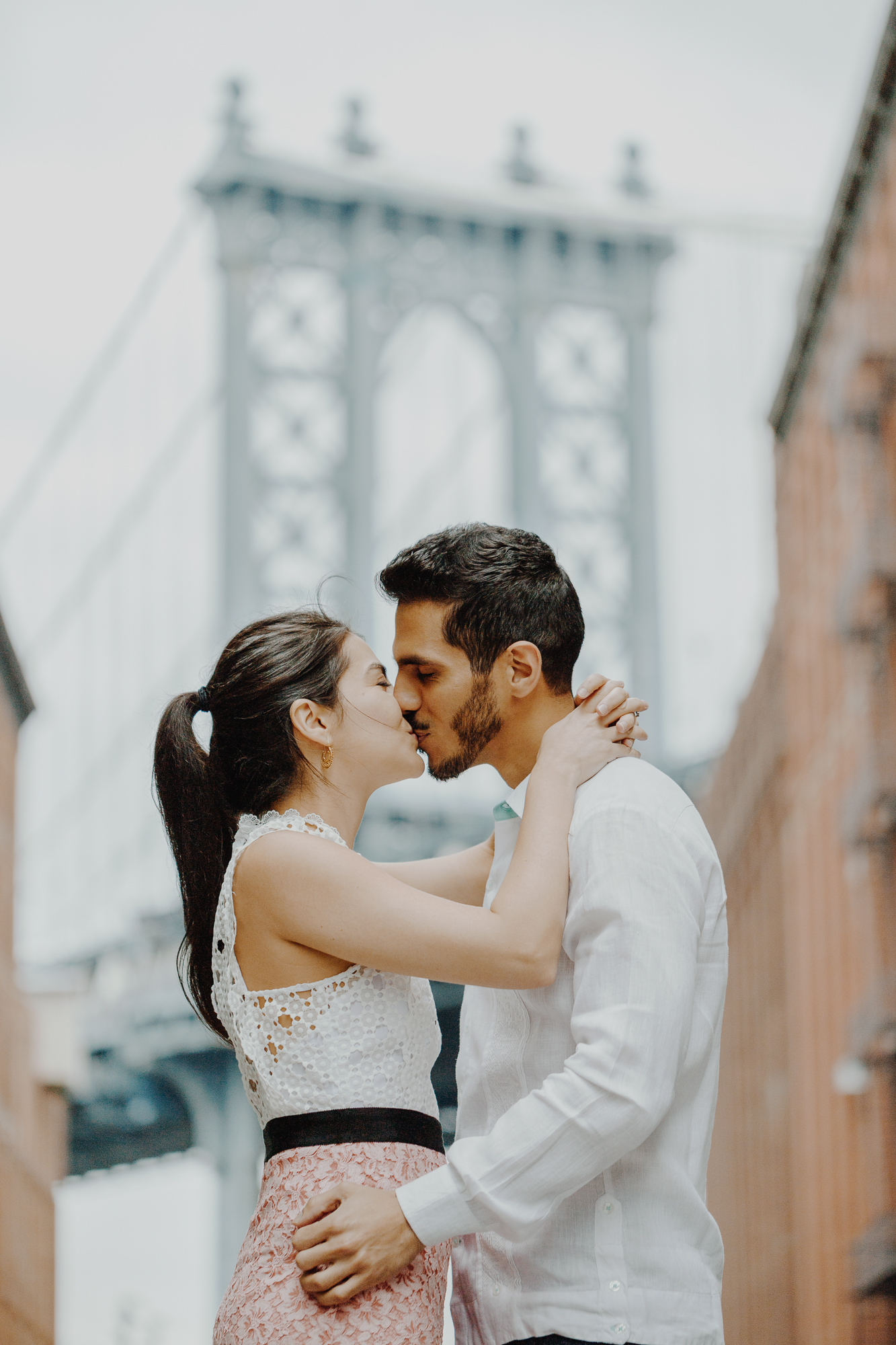 Dumbo Washington Street Engagement Shoot