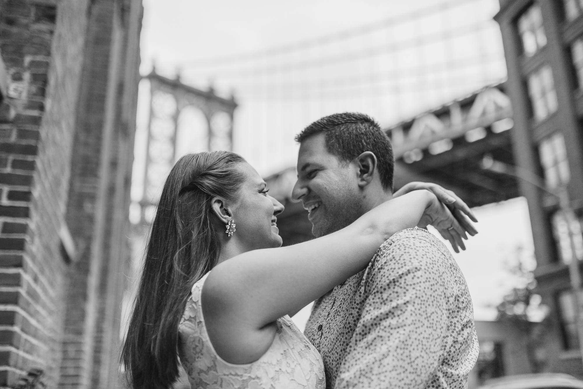 Brooklyn bridge engagement shoot
