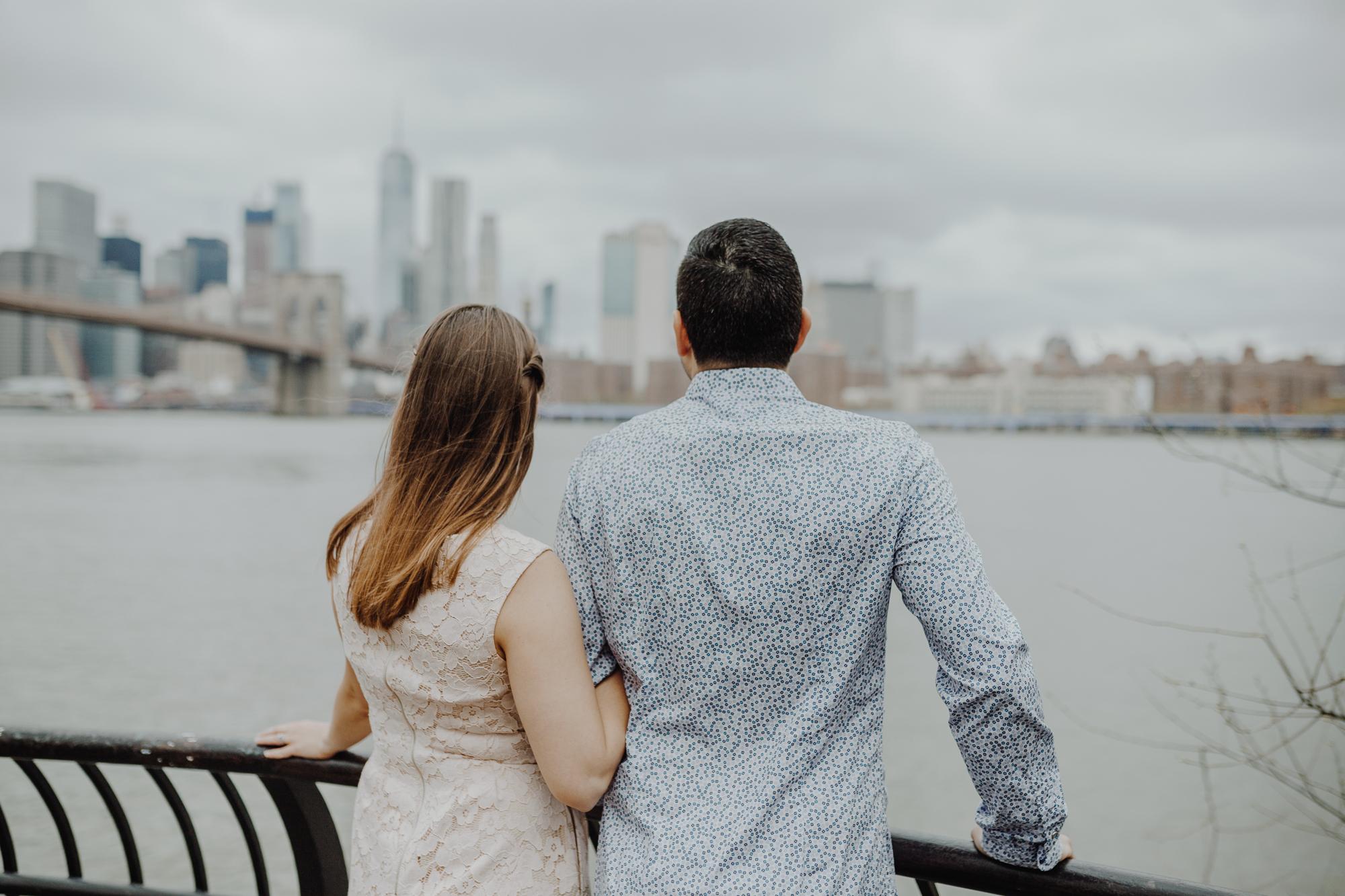Brooklyn bridge park engagement