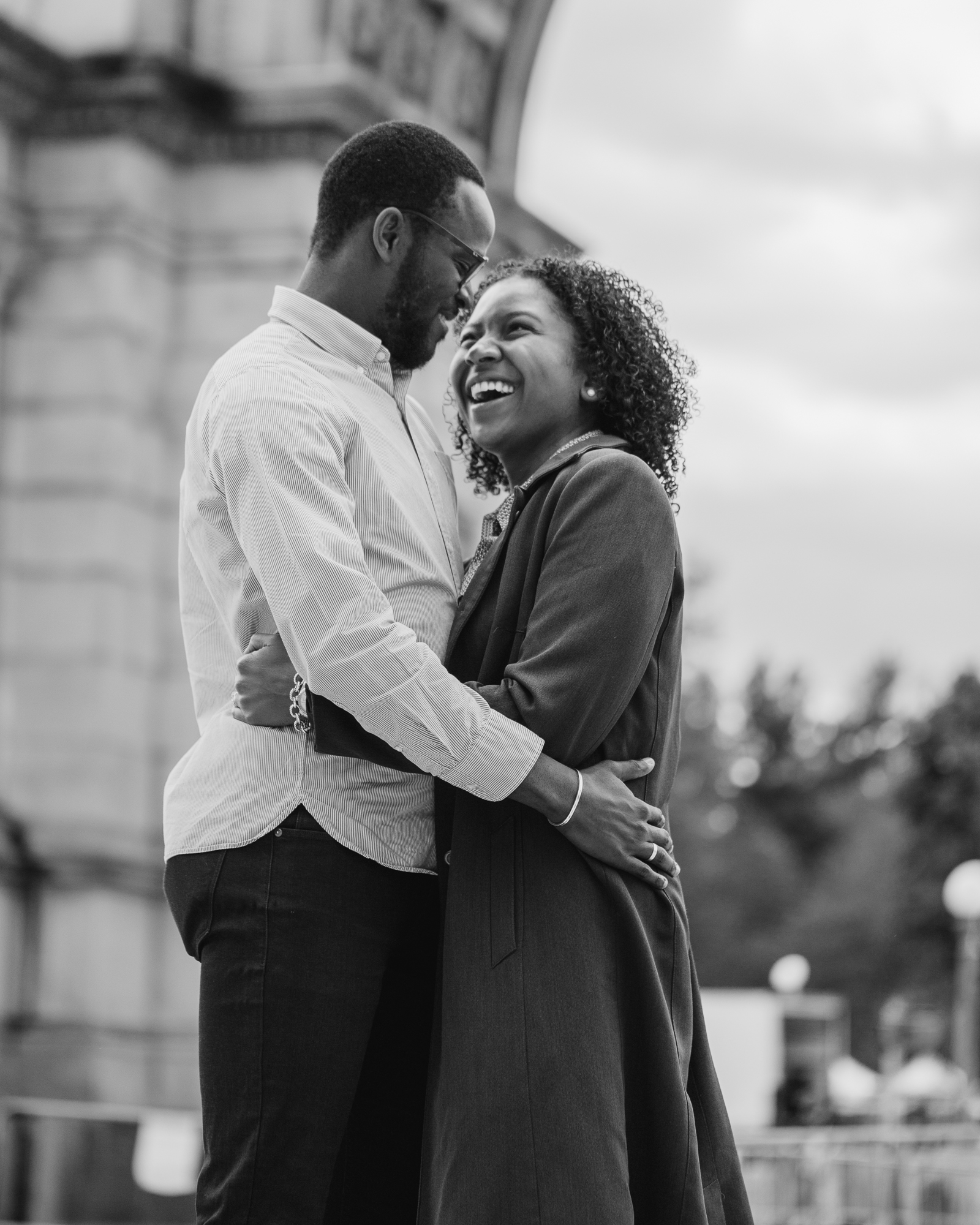 Grand army plaza engagement photos