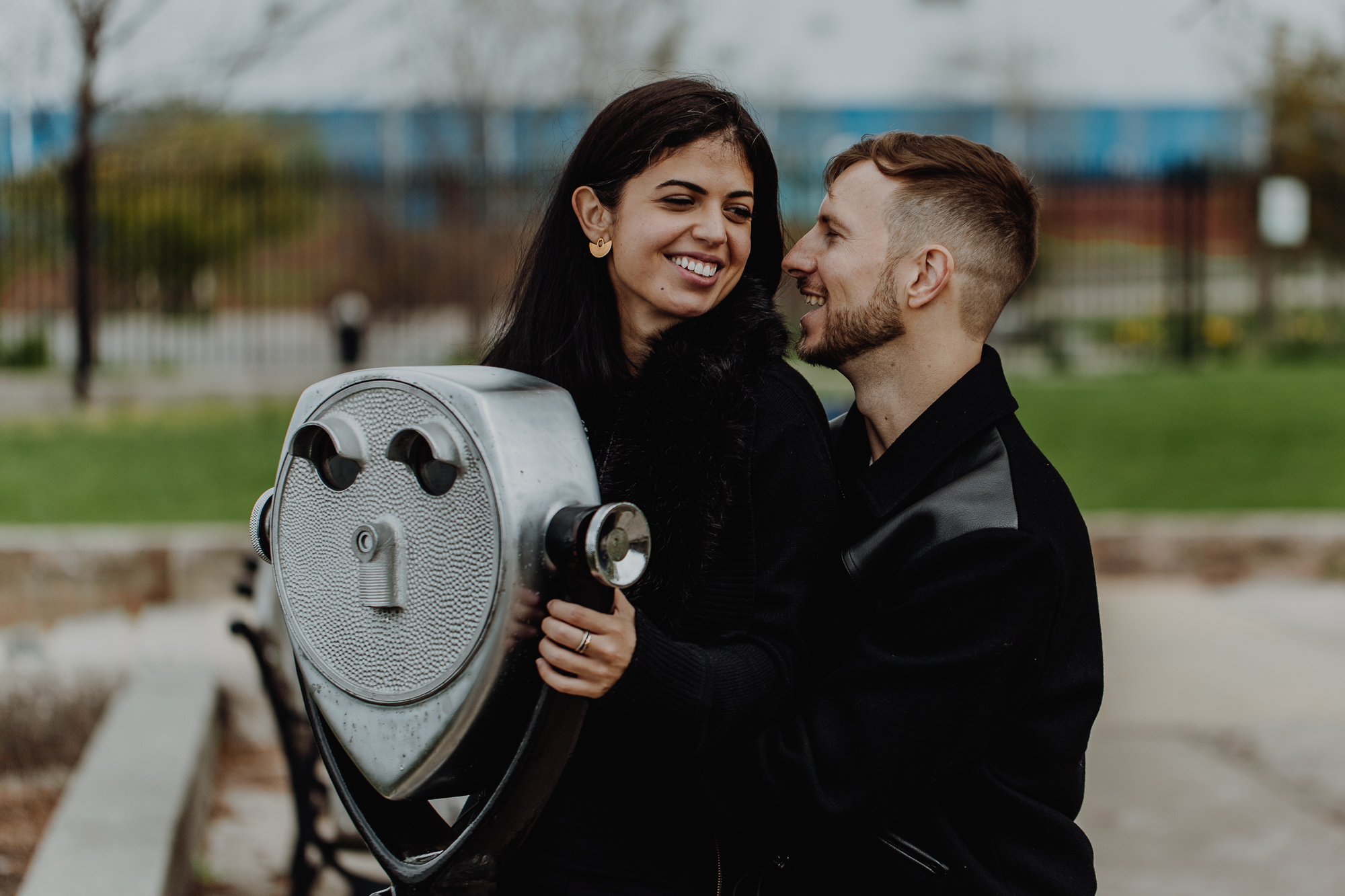 East River State Park engagement photos
