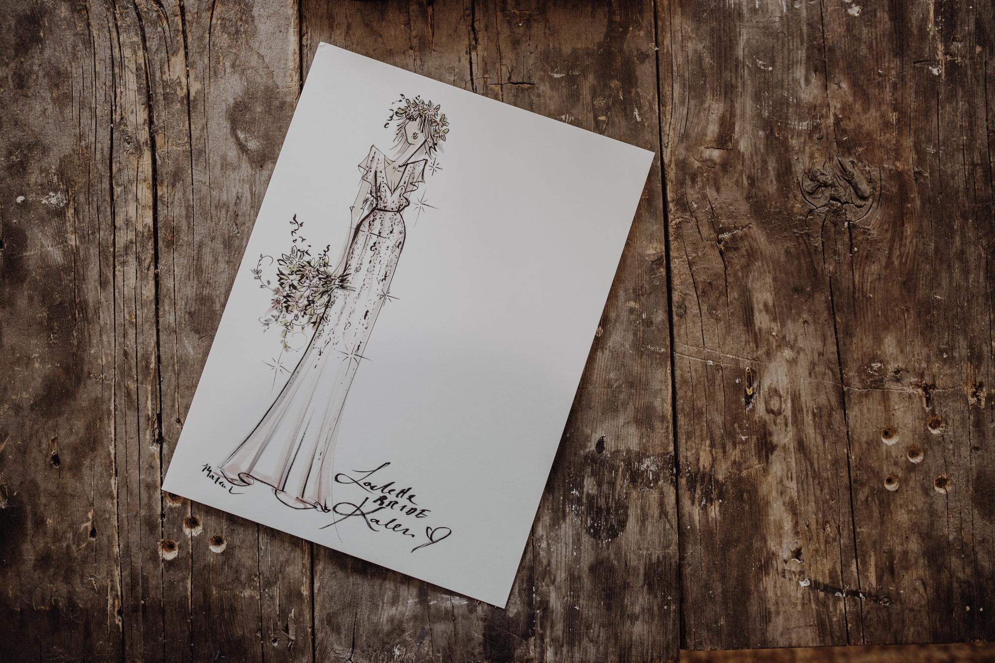 Loulette Bride Illustration