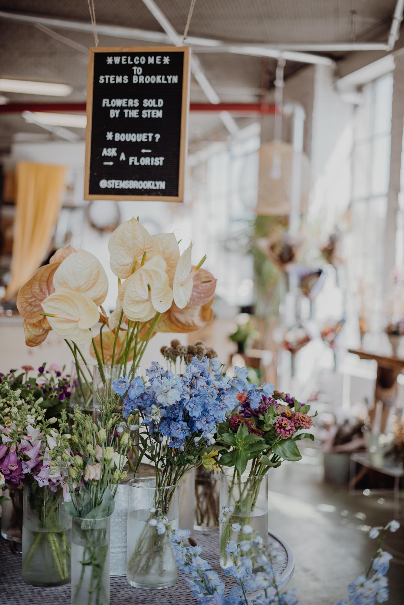Brooklyn wedding florist Stems Brooklyn