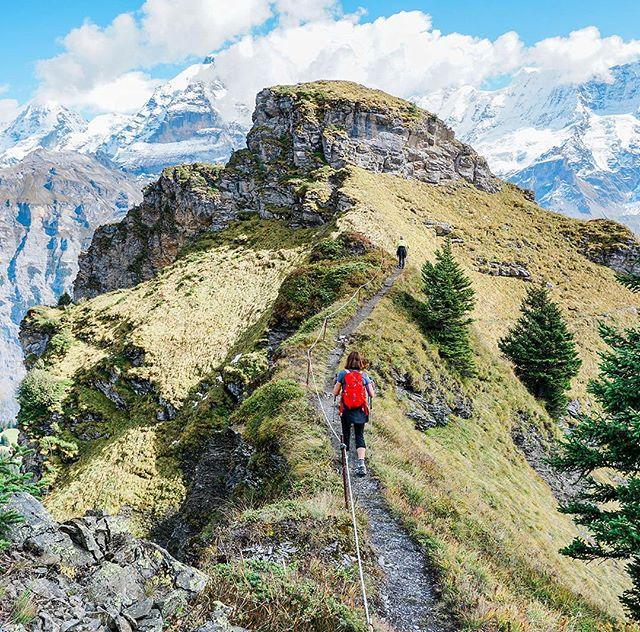 Approaching the crest at Bryndli, along with breathtaking views! 🏔 🏃🏻♂️🏔 #switzerland . . . . . . . . . . . .  #hikingtheglobe #alpselevated  #swissalps #nature #optoutside #getoutside #hikelikeagirl #alpen #lauterbrunnen #outdoors  #hikingboots #alps #hiking #hikingadventures #naturelovers #landscape #wanderlust #offthegrid #mountainlife #godsgreenearth #adventureawaits #bergwandern #wandern #wanderlusting #bryndli #womenwhohike #landscapephotography