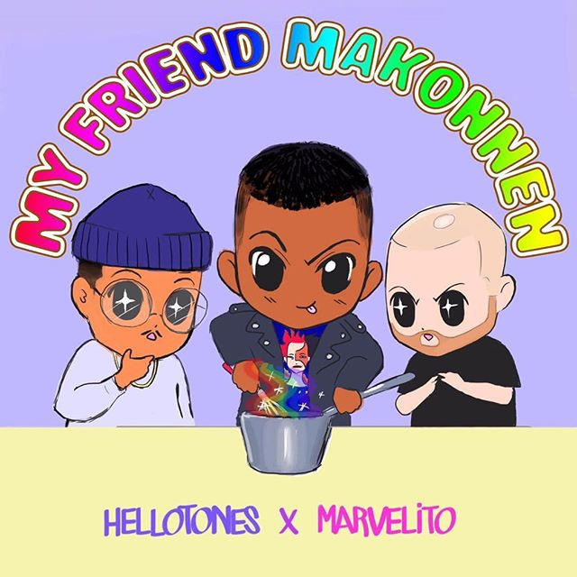 """💖Some Chibi Luv for """"MY FRIEND MAKONNEN"""" MIX💘  @hellotones first mix with @1marvelito 🌈2 hrs of @ilovemakonnen ✨  hit the link on @hellotones Bio 🤖"""