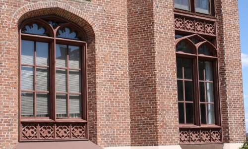 Gothic Windows Completed on CICU Building