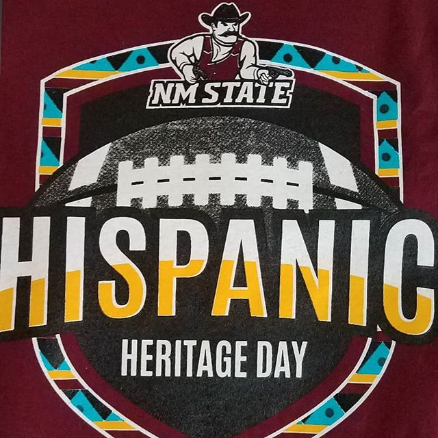 Super excited to celebrate Hispanic Heritage Day! Saturday, September 14th! 2-5pm #nmsu #panam  Food, music, luchadores, mariachis, & a live mural painting! Go Aggies!
