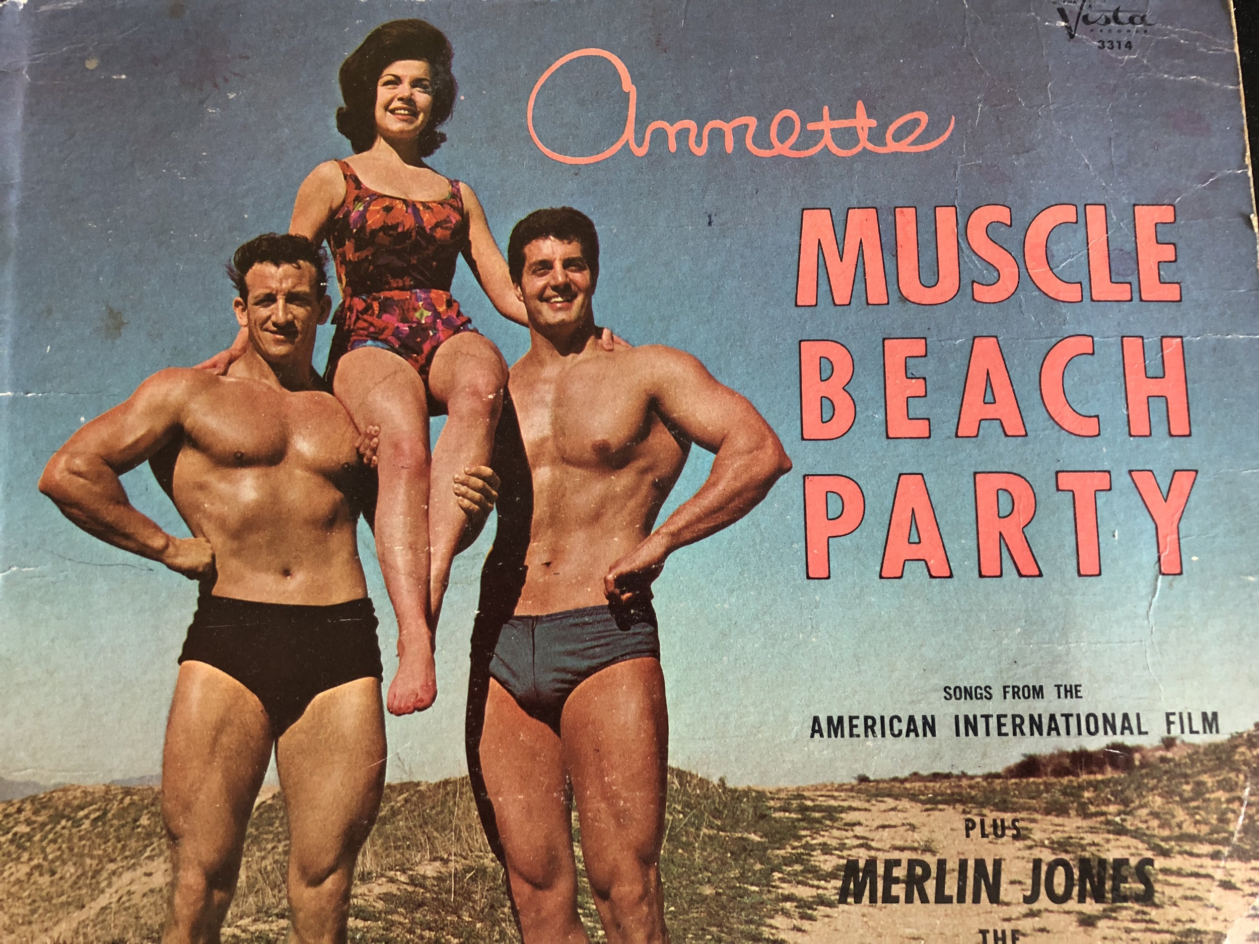 MUSCLE BEACH PARTY ALBUM COVER (1964)