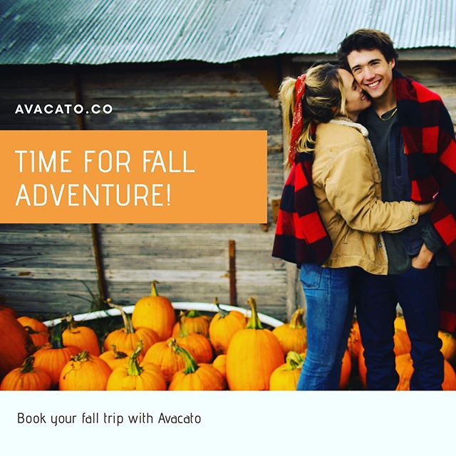 Book your surprise fall getaway with Avacato! Yes, your destination is a surprise until the day you leave! #surprisetravel #avacato