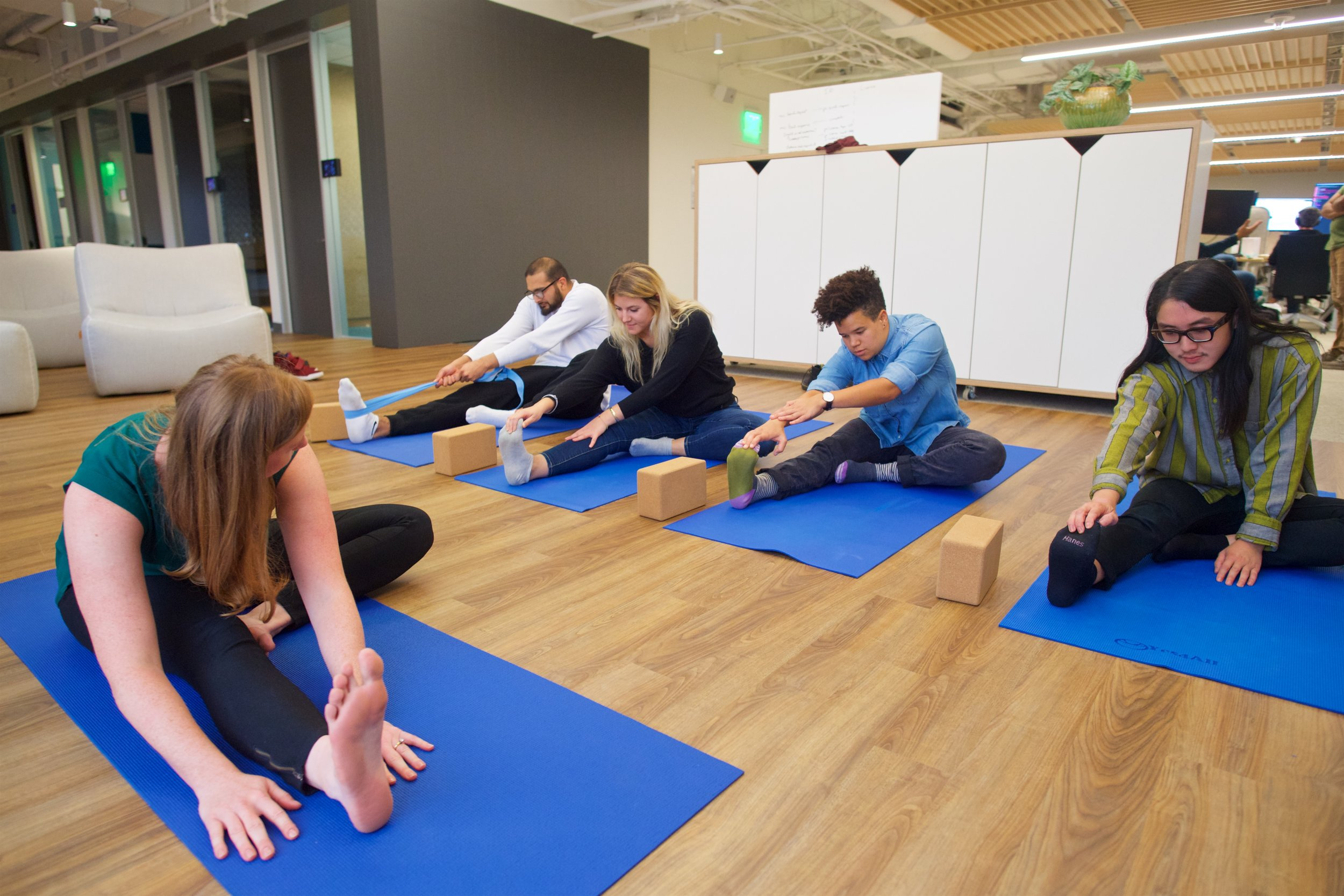 Yoga   Guided instruction in breathing, movement and meditation by certified teacher.