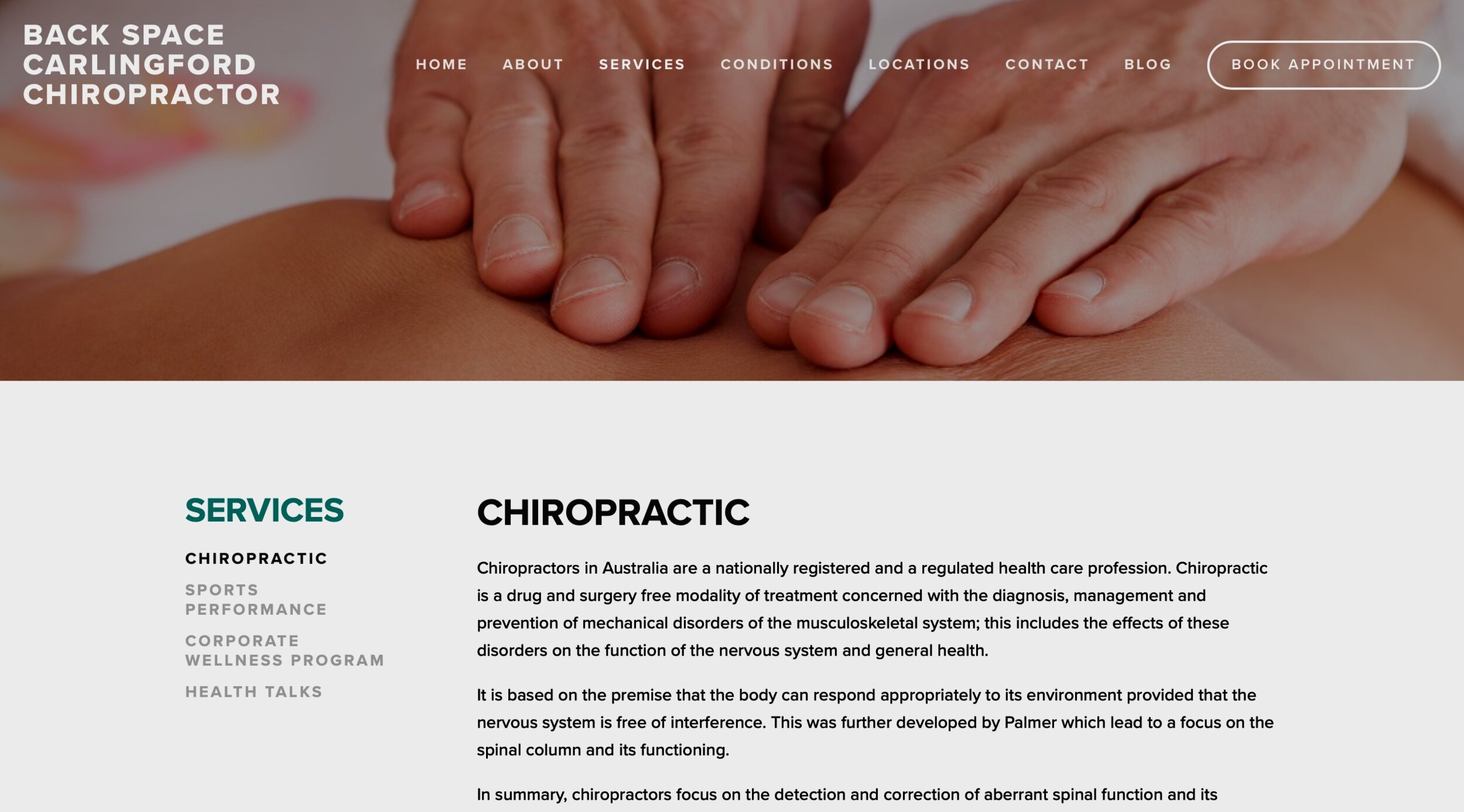 back space chiropractor -