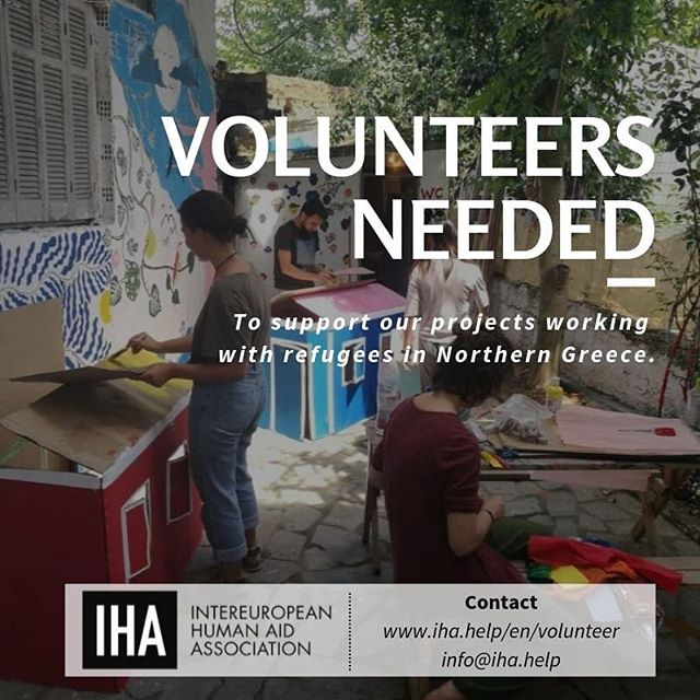 For our team in Northern Greece we are searching for new volunteers who want to join our team as soon as possible.  We are searching especially for people who are interested in organizing our Child Friendly Space and the Women's Space.  Contact us on www.iha.help/en/volunteer.  #dignityfirst #chooselove #northgreece #womensspace #helprefugees #volunteers #volunteerwork #refugees #refugeeswelcome #Thessaloniki #humanity #communitycenter #ngo #greecerefugees #humanitarianaid #warehouse #freeshop