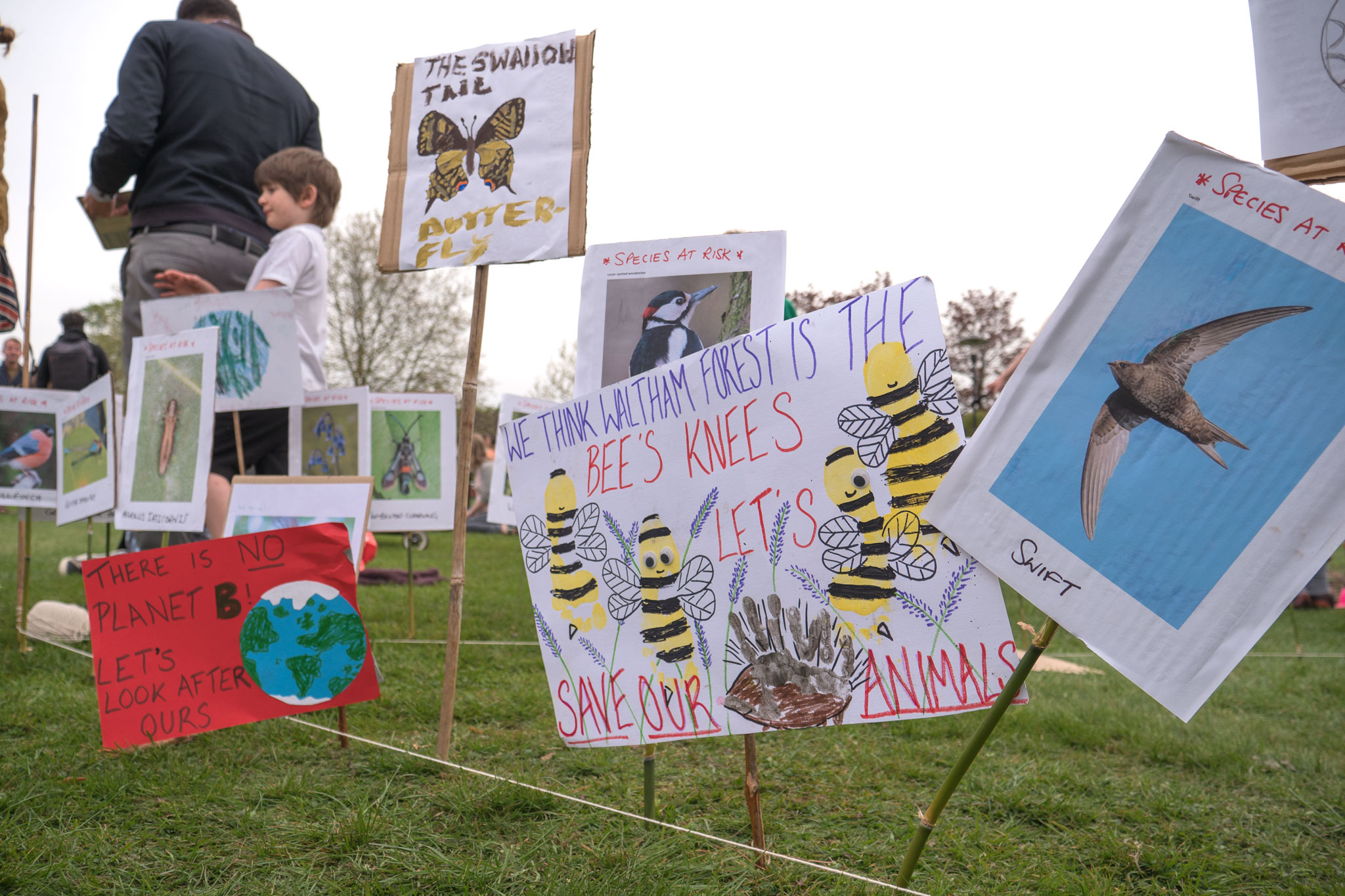XR children's protest signs