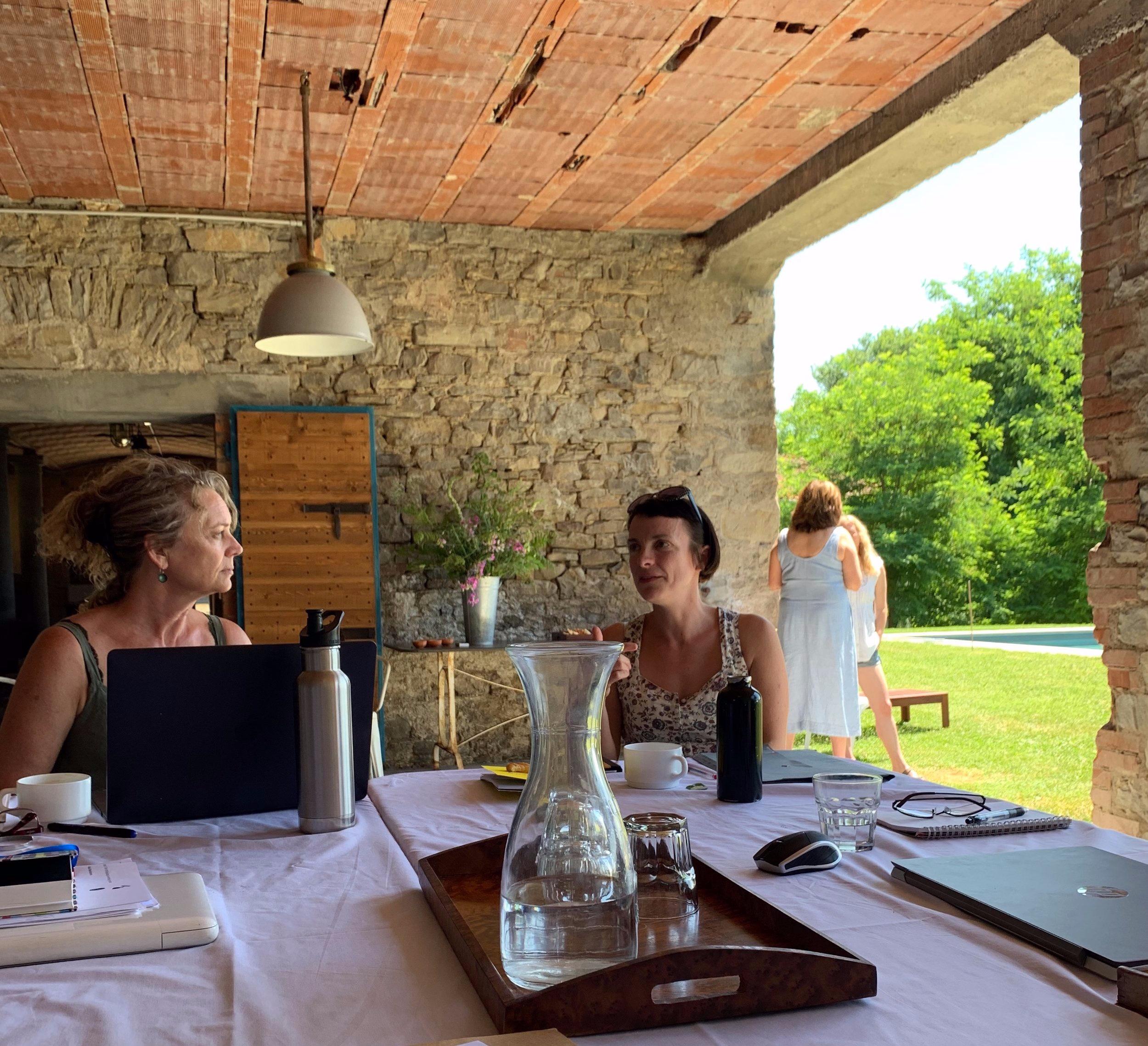 Writing retreat at Villa Lugara