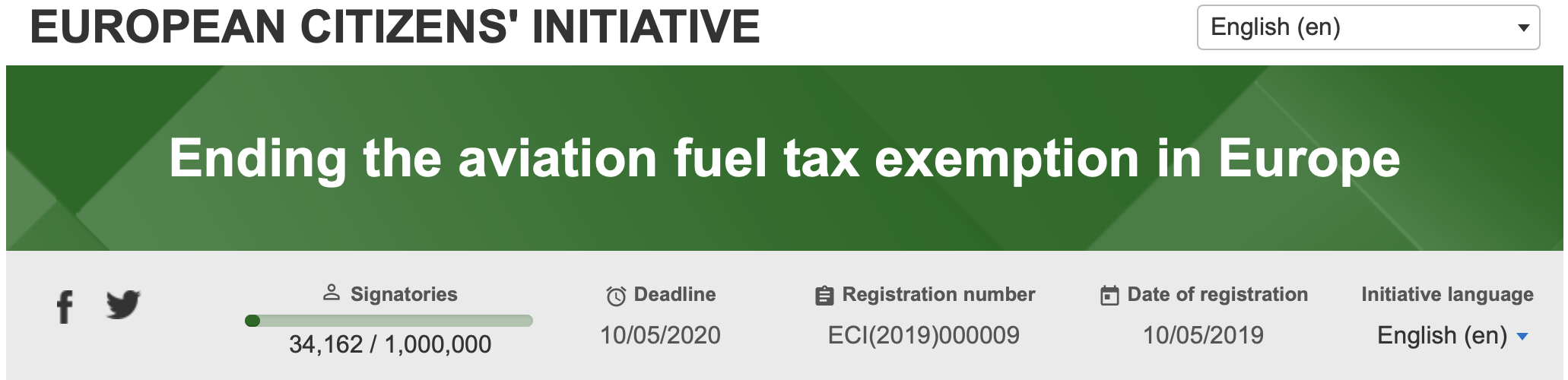 The true (environmental) cost of flying should be reflecting in the price - s   ign the petition    to end aviation fuel tax exemption in Europe