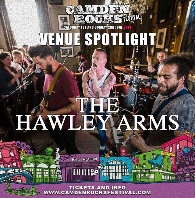 We are excited to be part of the @camdenrocksfest once again this year. Check out our venue spotlight and a chat with our events manager  https://www.instagram.com/p/BwpIgylAWd-/ Tickets available from www.camdenrocksfestival.com . . . . . . . . . . . . #hawleyarms #camdenrocks #festival #gigs #music #event #live #bands #camden #london #guitars #bass #drums #vocals #keyboards #singers #musicians #songwriters #venue #pub #independent #newmusic #establishedartists